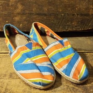 Toms Womens Multi Color Printed Canvas Size 7